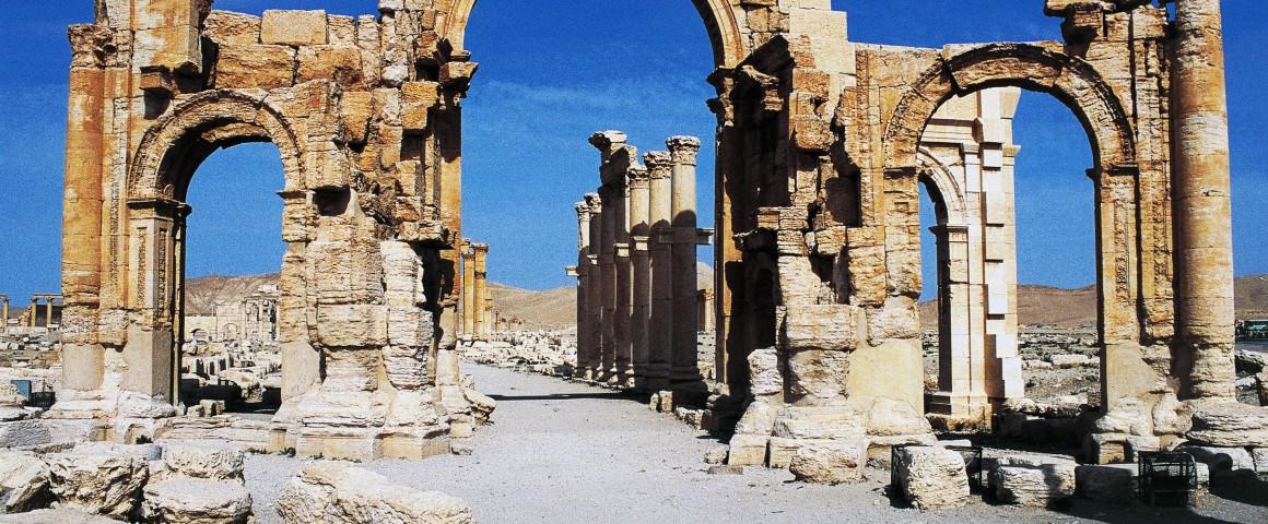 Triumphal arch of Septimius Severus, Palmyra (UNESCO World Heritage Site, 1980), Syria, Roman civilization, 1st-2nd century