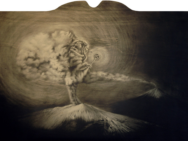 11. Tifeo, cm 118x86, grafite su tavola, 2013