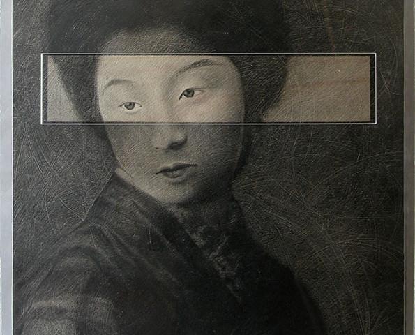 10. Dall'anima al corpo, cm 55x55, grafite su tavola, 2005